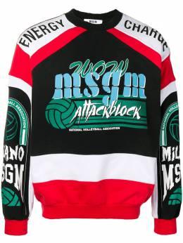 MSGM - толстовка с принтом 'Attack Block' 6MM96599509993683503