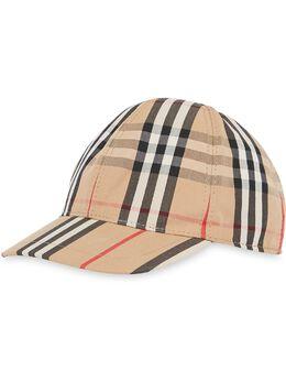 Burberry Kids - бейсбольная кепка в клетку Vintage Check и полоску Icon Stripe 53339563098300000000
