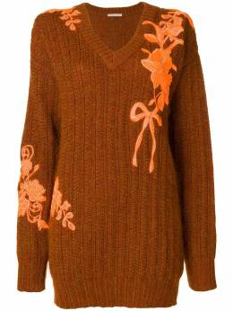 Christopher Kane oversized embroidered sweater 527463UIK02