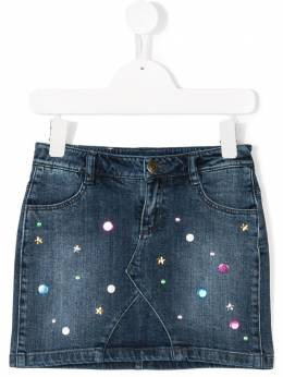 Little Marc Jacobs - embellished denim skirt 633Z6090399389000000
