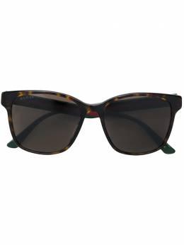 Gucci Eyewear прямоугольные солнцезащитные очки GG0417SK