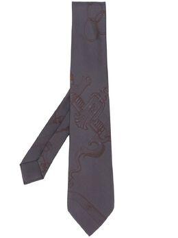 Hermès Pre-Owned галстук 2000-х годов с узором RMS180A