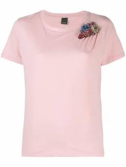 Pinko футболка с отделкой бисером 1G14GBY5BDP26