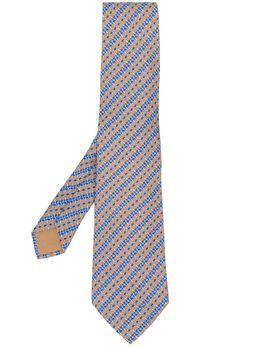 Hermès Pre-Owned галстук 2000-х годов с узором RMS180AP