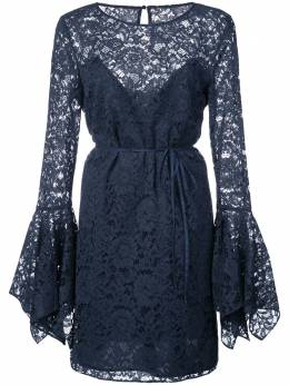 Zac Zac Posen - lace pattern flared design dress 85595339093583900000