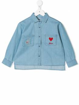 Stella McCartney Kids - джинсовая рубашка с вышивкой 995SLK03933855930000