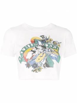 R13 укороченная футболка с графичным принтом R13W390704