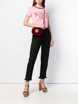 Dolce&Gabbana - бархатная сумка на плечо Devotion 365AA696956855300000