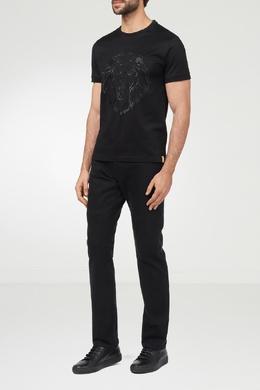 Черная футболка с вышивкой Billionaire 1668144697