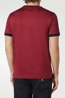 Красная футболка с принтом Billionaire 1668144696