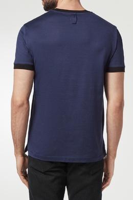 Синяя футболка с принтом Billionaire 1668144695
