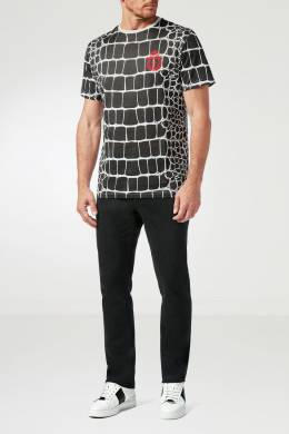 Черная футболка с принтом Billionaire 1668144715