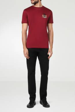 Бордовая футболка с логотипом Billionaire 1668144736