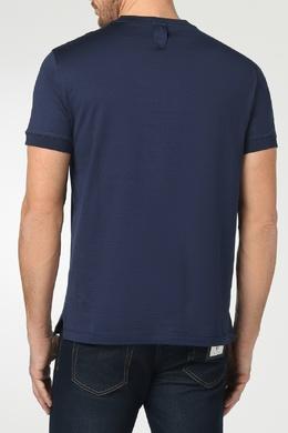 Синяя футболка с вышивкой Billionaire 1668144708
