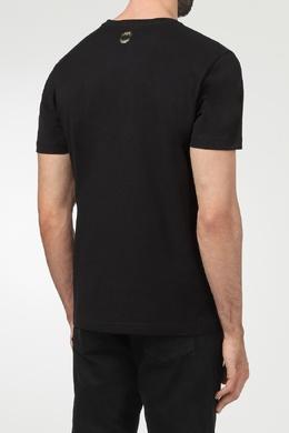 Черная футболка с декором Billionaire 1668144738