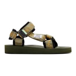 Aries Green Suicoke Edition Depa Cab Sandals 192136M23400205GB