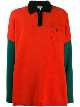 Loewe - рубашка-поло в стиле колор-блок 99856SM9536586600000