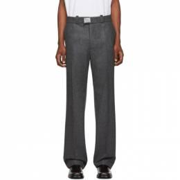 Raf Simons Grey Wool Classic Trousers 192287M19100506GB
