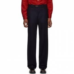 Raf Simons Navy Wool Classic Trousers 192287M19100406GB