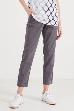Серые брюки из хлопка и лиоцелла Eleventy 2014135141