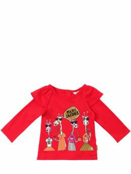 Футболка Из Хлопкового Джерси Little Marc Jacobs 70IFH2011-OTkx0
