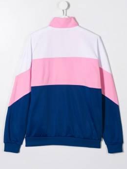 Msgm Kids - спортивная куртка в стиле колор-блок 05895085035000000000