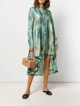F.R.S For Restless Sleepers - платье асимметричного кроя с принтом 66638TE6633695365966