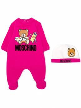 Moschino Kids - комбинезон с логотипом Teddy Bear 60ILDA95953359830000