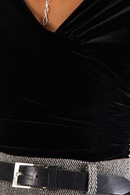 Черное боди с драпировками Alexandre Vauthier 356144974