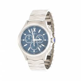 Ebel Blue Stainless Steel Wave 1216344 Chronograph Men's Wristwatch 42 mm 216038