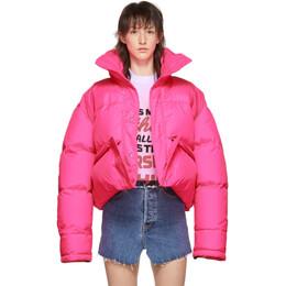 Vetements Pink Down Puffer Jacket 192669F06100203GB