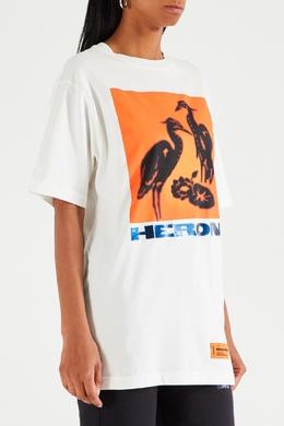 Белая футболка с надписью Heron Heron Preston 2771145121