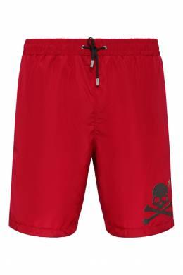 Красные шорты с контрастной отделкой Philipp Plein 1795144951