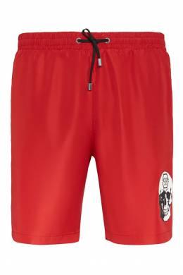 Красные шорты с логотипом Philipp Plein 1795144983