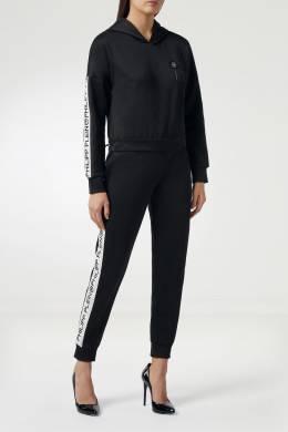 Черные брюки-джоггеры с контрастной отделкой Philipp Plein 1795144992