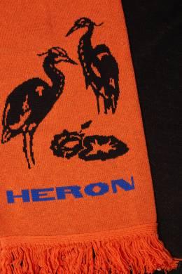 Шарф черного и оранжевого цвета Heron Preston 2771145130