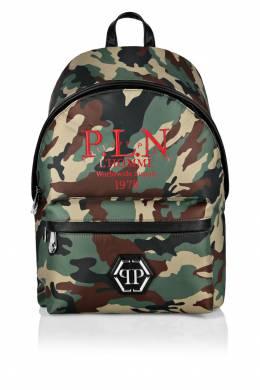 Камуфляжный рюкзак с контрастной отделкой Philipp Plein 1795144928