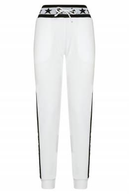 Белые брюки-джоггеры с контрастной отделкой Philipp Plein 1795144991