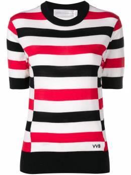 Victoria, Victoria Beckham трикотажная блузка в полоску KNTVV119
