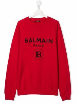 Balmain Kids толстовка с логотипом 6L4630LX200