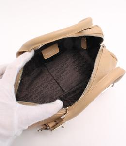 Dior Beige Cannage Leather Boston Bag 216144