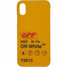 Off-White Yellow Industrial Y2013 iPhone X Case 192607M15300601GB