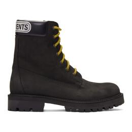 Vetements Black Trucker Boots 192669M25500304GB