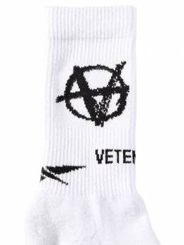 Anarchy New Logo Cotton Blend Socks Vetements 70IW3L012-V0hJVEU1