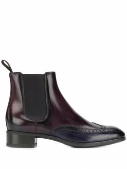 Santoni ботинки с контрастным носком WTED55133SMOCID