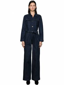 Long Sleeve Cotton Denim Jumpsuit Frame 70IVHH007-VlRSUw2