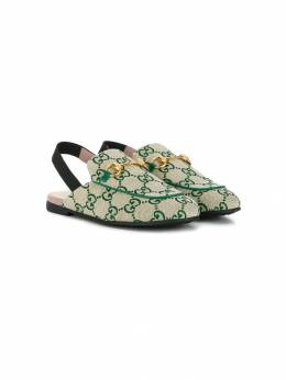 Gucci Kids лоферы с ремешком на пятке 4781899SF50