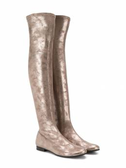 Monnalisa сапоги по колено с эффектом металлик 8740254709