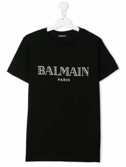 Balmain Kids футболка с логотипом 6L8591LX160