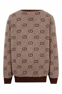 Кардиган с узором Gucci Kids 1256146127